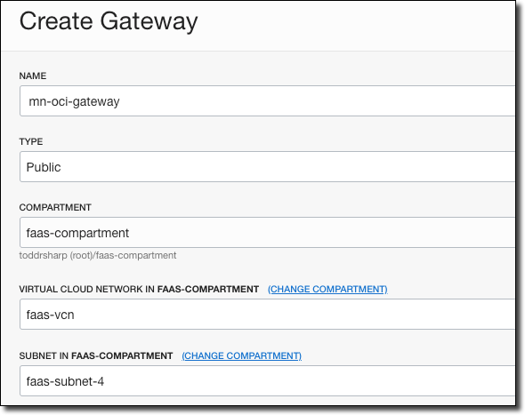 Create Gateway Button